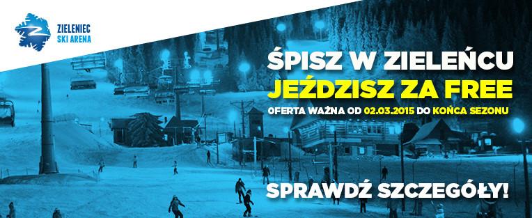 Darmowy karnet na wyciągi narciarskie dla wszystkich śpiących w Zieleńcu!
