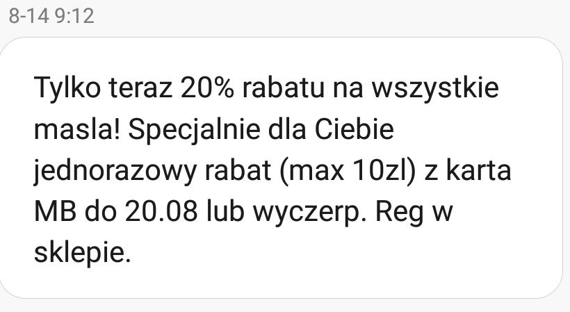 Wszystkie masła -20% (możliwy rabat -20% na wszystko - BŁĄD?) @Biedronka
