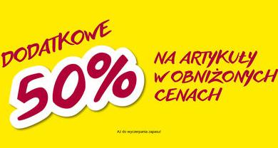 DODATKOWE 50% na wszystkie artykuły w obniżonych cenach! - TAKKO FASHION