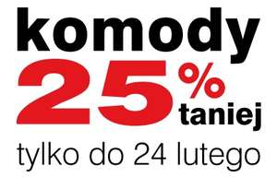 Rabat 25% na komody @ Black Red White
