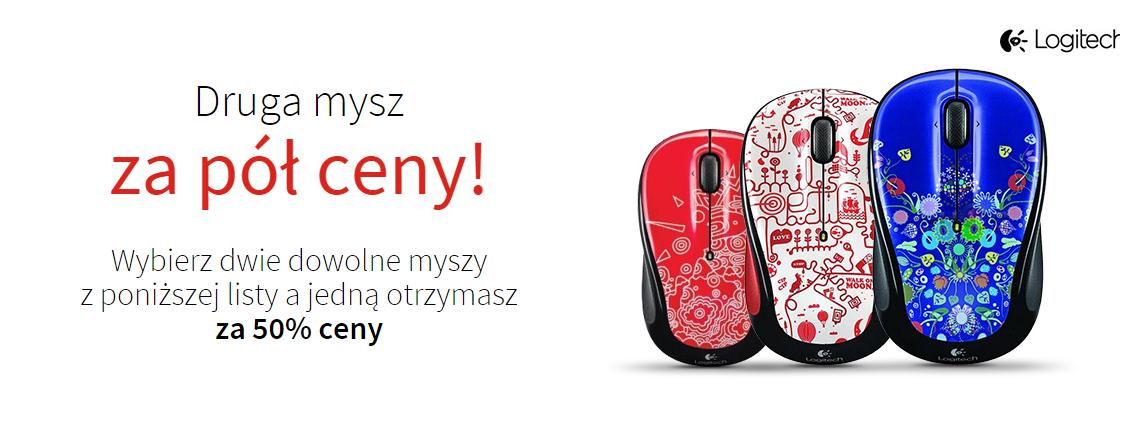 druga mysz bezprzewodowa Logitech M325 za 50% ceny @ X-Kom