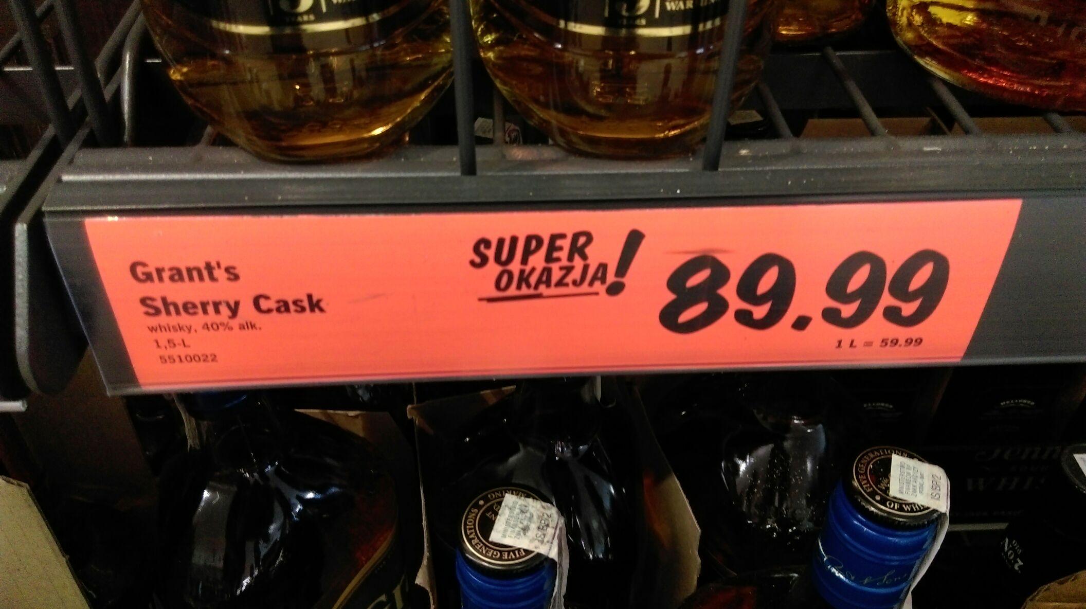 Whisky Grant's 1.5L w Lidlu