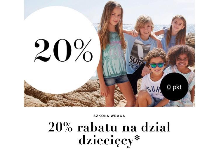 H&M stacjonarnie - 20% Rabatu na dział dziecięcy