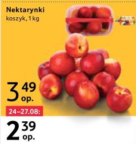 Nektarynki 1kg w Tesco i inne promocje