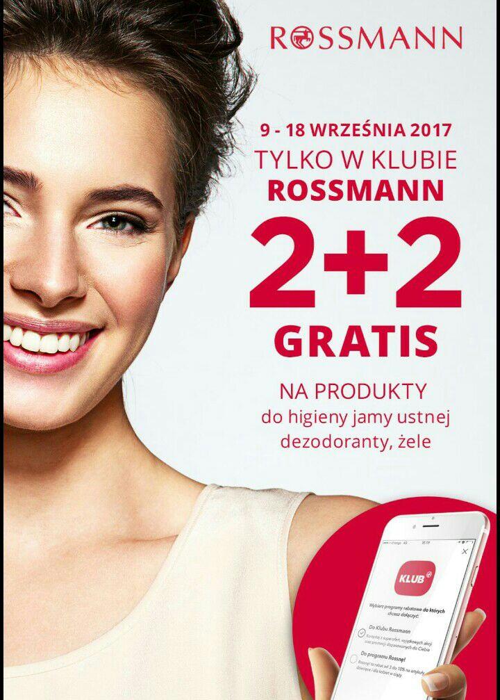 2+2 produkty do higieny jamy ustnej dezodoranty żele @Rossmann DO 19.09!