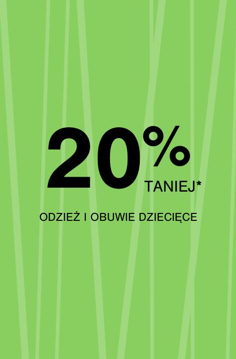 20% rabatu na odzież i buty dziecięce F&F @ Tesco