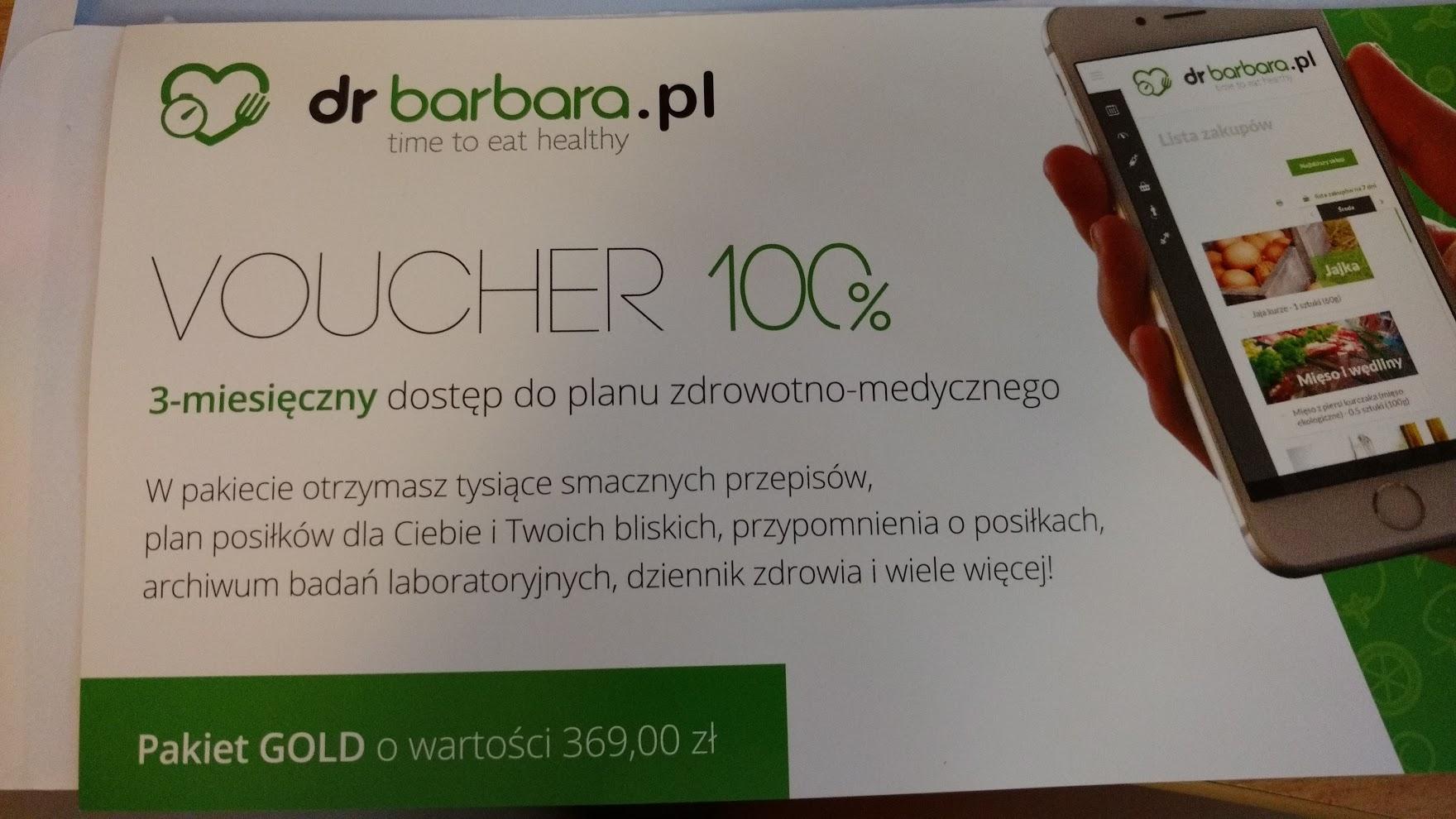 36-miesięczny dostęp do planu zdrowotno-medycznego drbarbara.pl (na ulotce 3 miesiące)