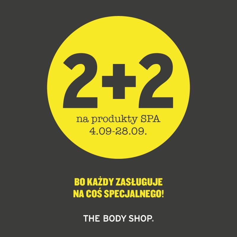 [Od 4 września] 2+2 gratis na produkty spa @ The Body Shop
