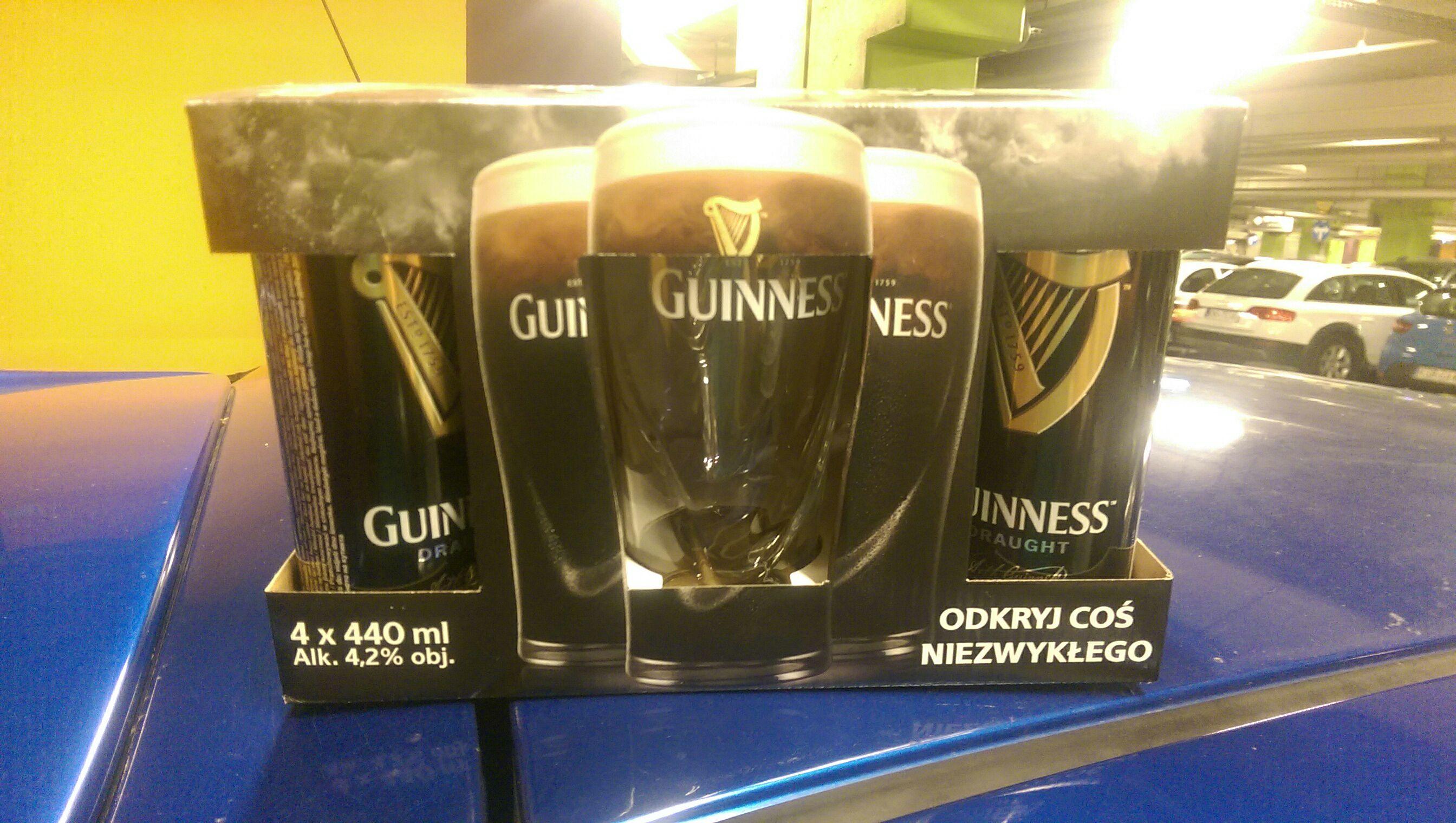 4 Guinness + szklanka za 9.99!