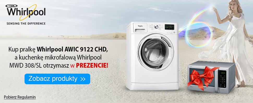 Kuchenka mikrofalowa Whirlpool przy zakupie pralki Whirlpool AWIC 9122 CHD @