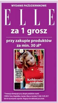 [Od 31 sierpnia] Magazyn Elle za 1 grosz przy zakupach od 30zł (wybrane marki) @ Hebe
