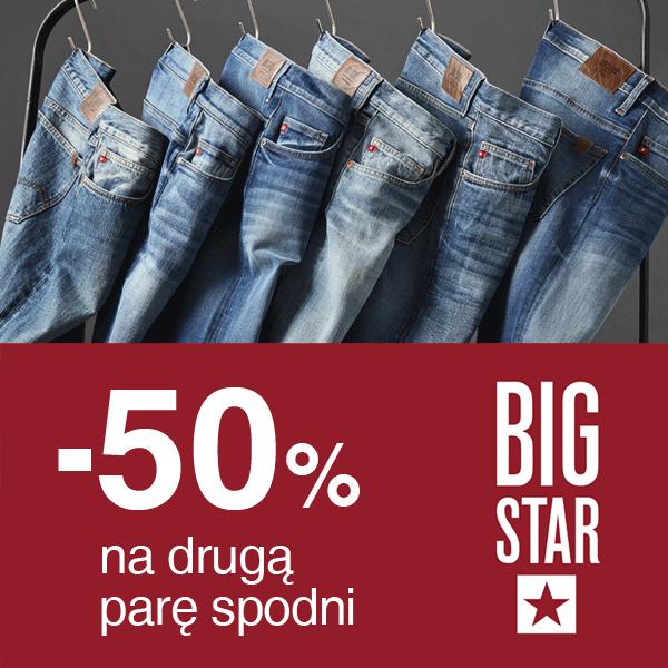 [Od 31 sierpnia] -50% na drugą parę spodni @ Big Star