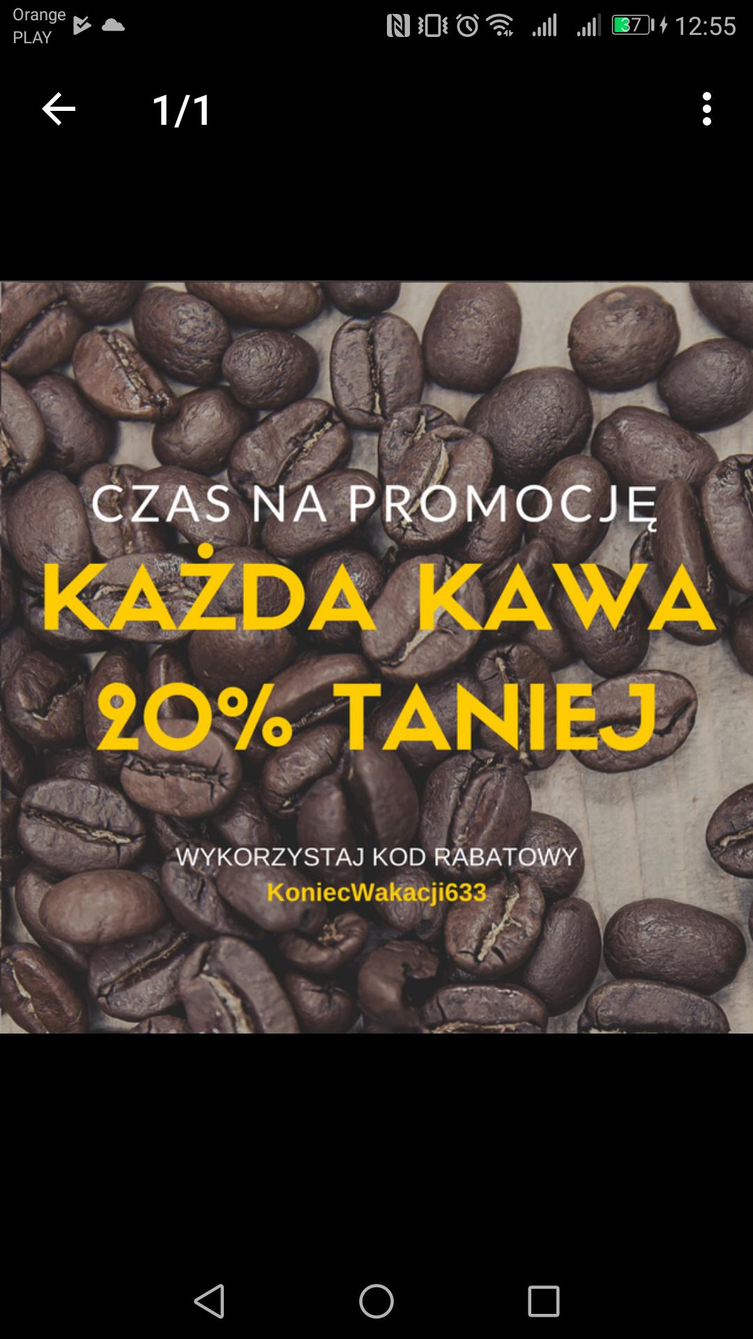 -20% rabatu na wszystkie kawy