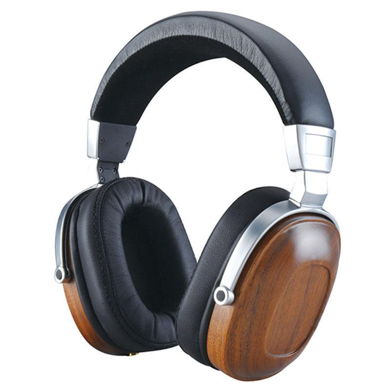Drewniane słuchawki nauszne