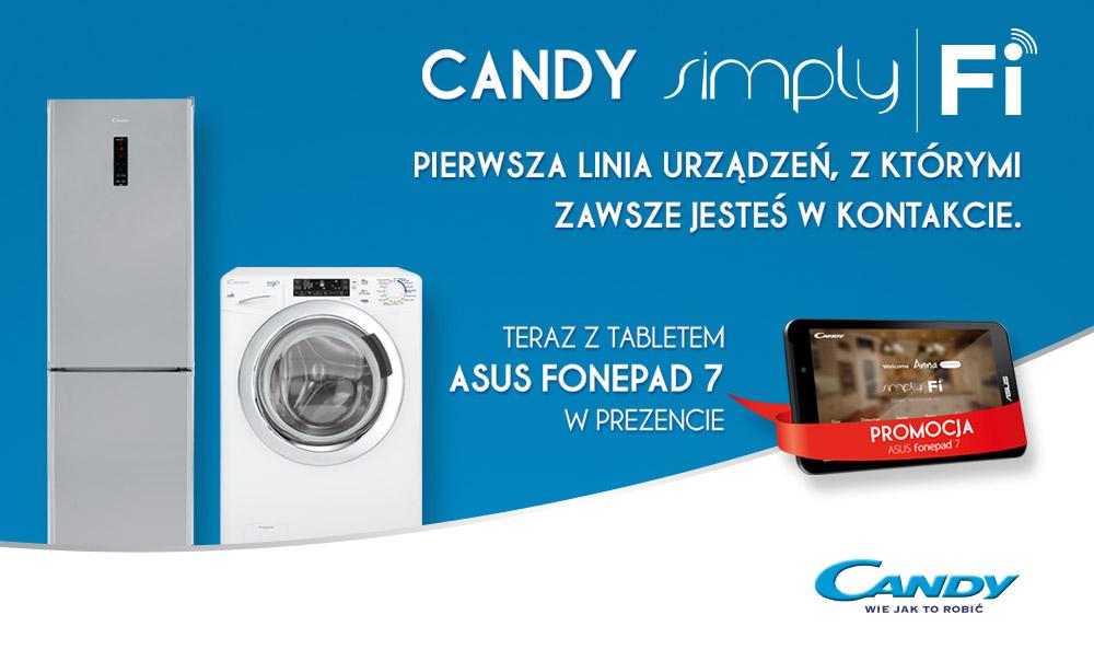 Tablet Asus Fonepad 7 w prezencie do sprzętu AGD marki Candy @ Media Expert