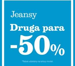 Druga para jeansów -50% @ New Look