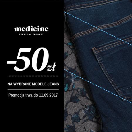 50zł rabatu na wybrane modele dżinsów @ Medicine