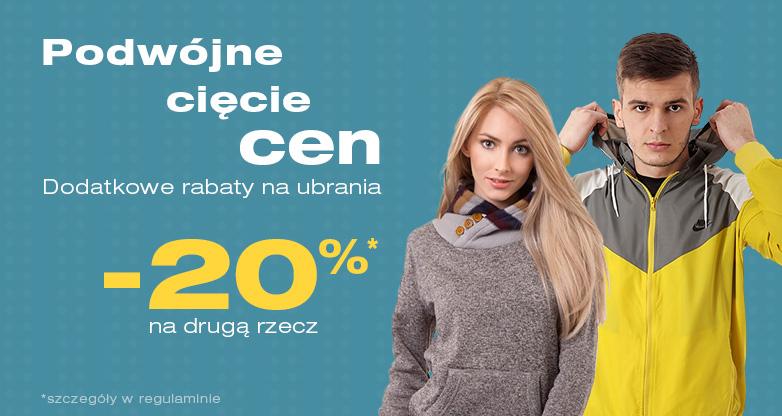 20% rabatu na drugi produkt (dwie koszulki za 35,98zł) @ 50 Style