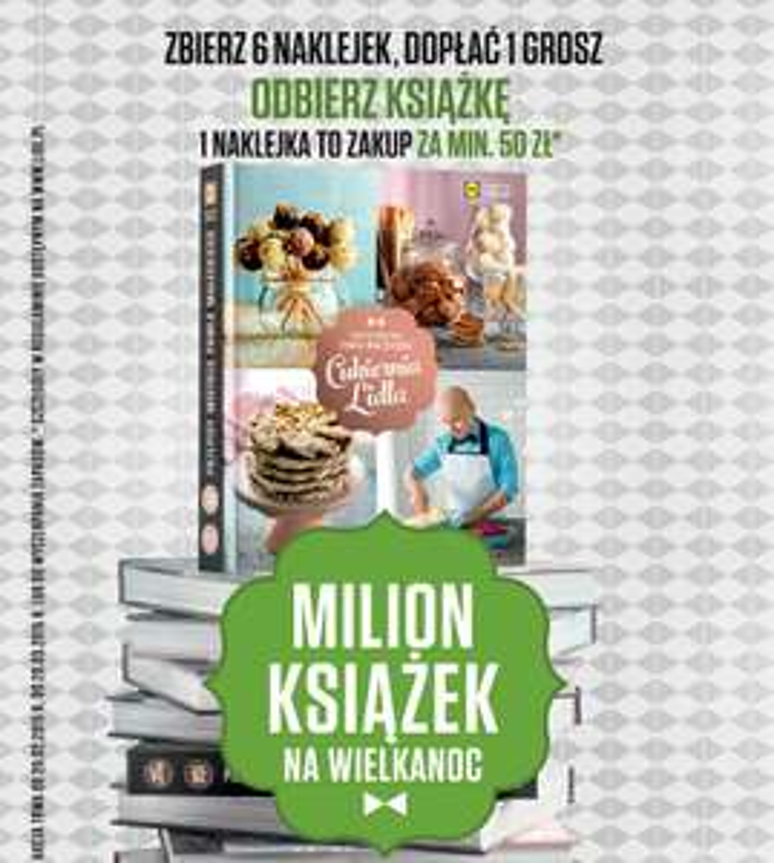 Milion książek na Wielkanoc za 1 grosz @ Lidl