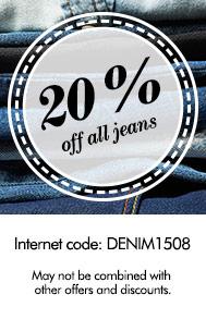 20% zniżki na spodnie dżinsowe @ Lindex