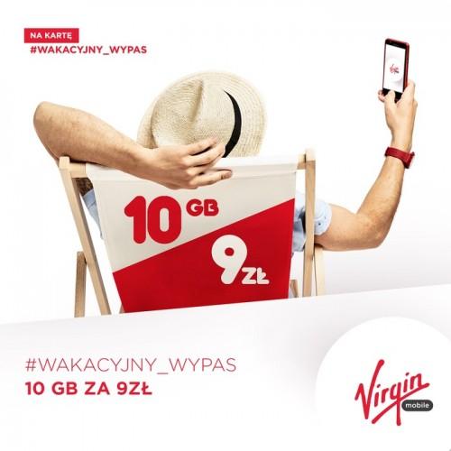 Virgin Mobile - Wakacyjny Wypas 10 GB za 9 zł przedłużony