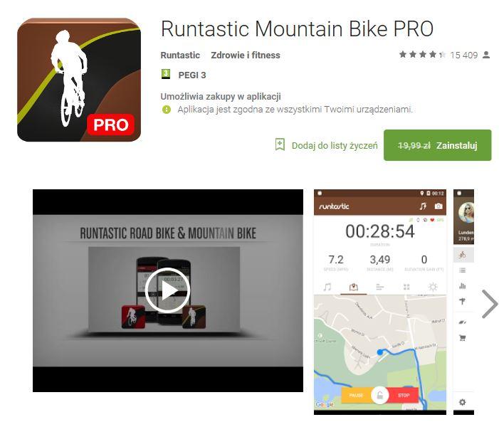 Runtastic Mountain Bike PRO z 19.99zł na 0zł