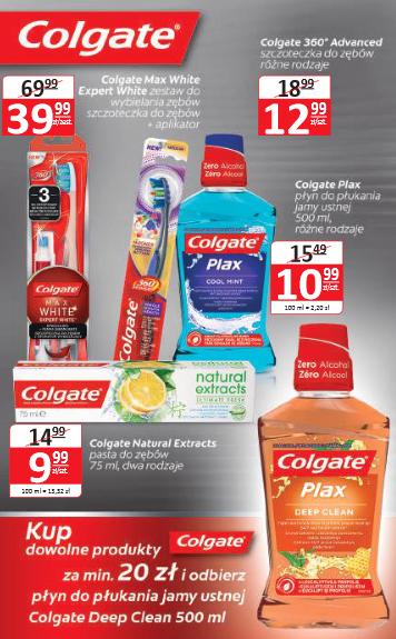 Płyn do płukania ust gratis przy zakupie produktów Colgate za min.20zł @ Natura