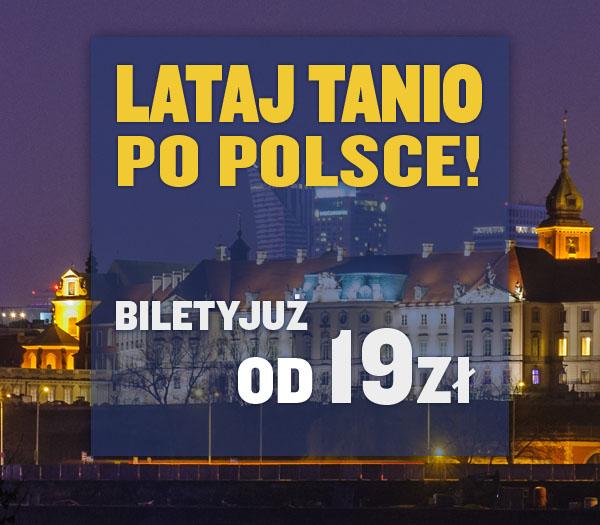 Bilety lotnicze na trasie Warszawa-Gdańsk oraz Wrocław-Warszawa za 19zł @ Ryanair
