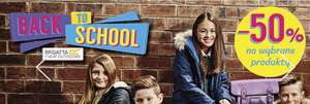 """Akcja """"Back to school"""" i wybrane produkty -50% (kurtka 80zł, buty z wysoką cholewka za 78zł, softshell za 50zł i in.) @ Regatta"""