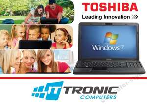 Laptop TOSHIBA C660 (2x2,1Ghz, 2GB ram, 250GB dysk, kamera, Windows 7) za 555zł @ Allegro