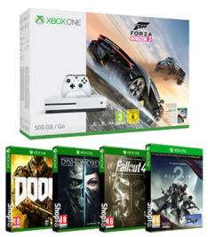Xbox One S 500GB Forza Horizon 3 Bundle + Destiny 2 + Dishonored 2 + Doom + Fallout 4 (Inc Fallout 3) za ~1020zł @ ShopTo