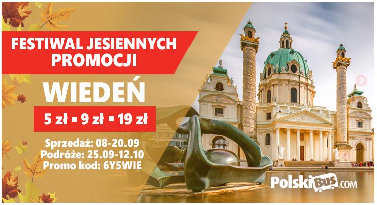 PolskiBus do Wiednia od 5 zł