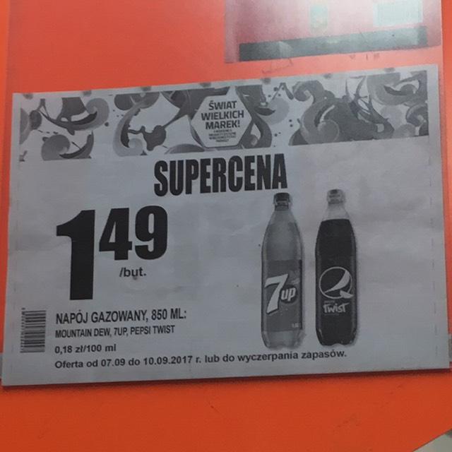 Pepsi, 7UP oraz Mountain Dew (0,85l) za 1,49 @ biedronka