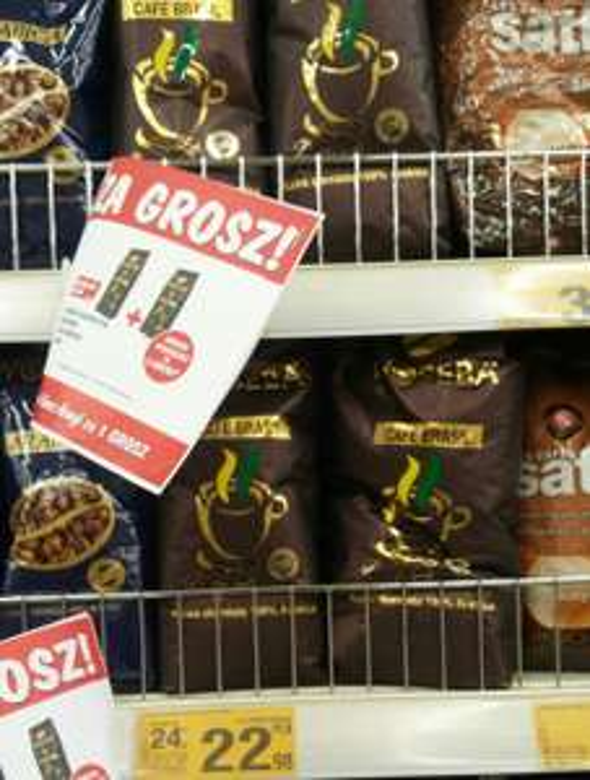 Auchan: Kawa ziarnista Woseba 1 kg CAFE BRASIL