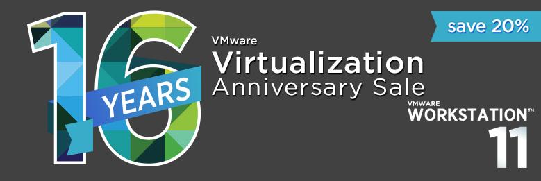 Promocja -20% na VMWare Workstation i Player (oprogramowanie do wirtualizacji)