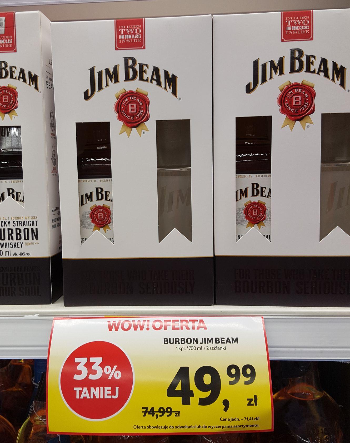 Jim Beam 0.7l + 2 szklanki @ Tesco