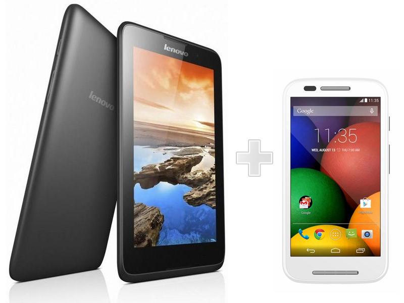 Tablet LENOVO A7 A3500FL +Smartfon MOTOROLA Moto E za 499zł (TANIEJ o 215zł) @ Allegro