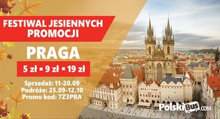 Polskibus - Praga bilety 5zł, 9zł lub 19zł.