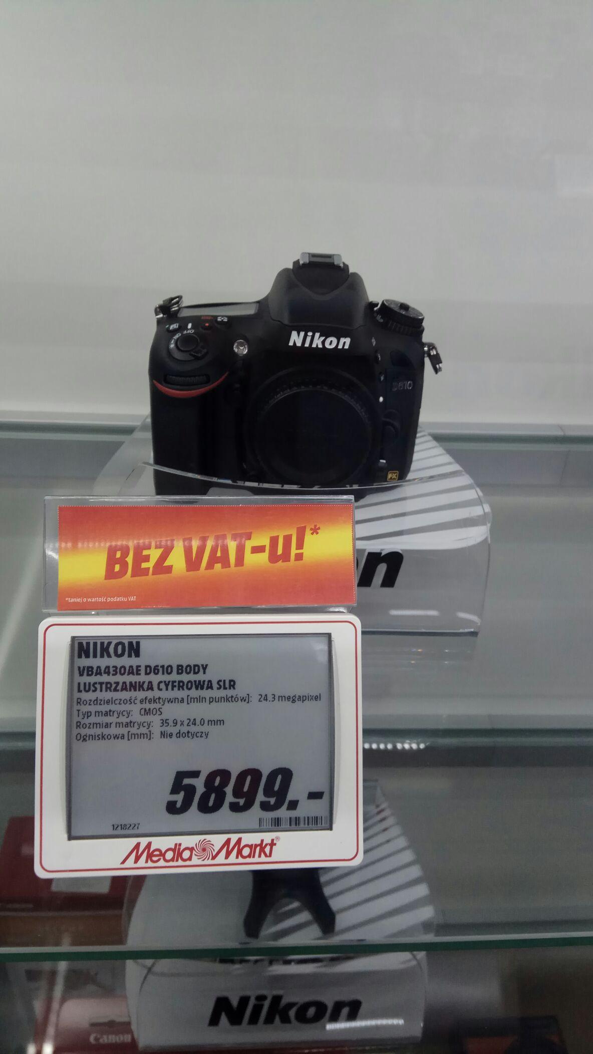 Nikon D610 Bez Vat-u!