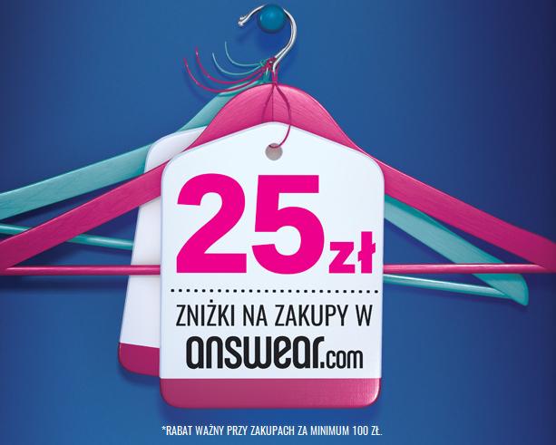 Kod rabatowy -25zł na zakupy w e-sklepie Answear @ Answear/ Fantasia