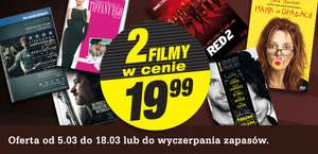Dwa filmy za 19,99zł @ Biedronka