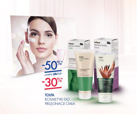 50% rabatu na kosmetyki do pielęgancji ciała marki Tołpa (z kartą) @ Super-Pharm
