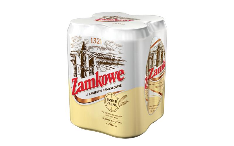 Piwo Zamkowe jasne || czteropak poczwórnie chmielonego napoju alkoholowego ||  5.6% included w 500ml || MARKETY DINO