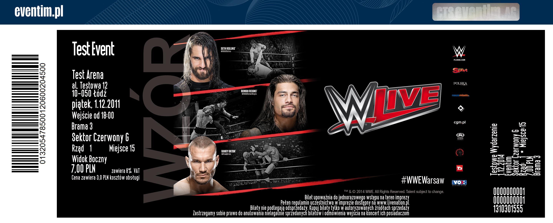 WWE w Warszawie (Amerykański Wrestling!) - bilety w promocji za 99zł (zamiast 179zł) @ Eventim