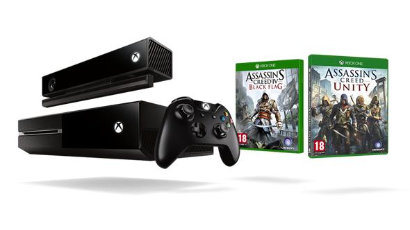 Microsoft Xbox One 500GB + Kinect + Assassin's Creed Pack + voucher 20£ ~ 1715zł @ Microsoft UK