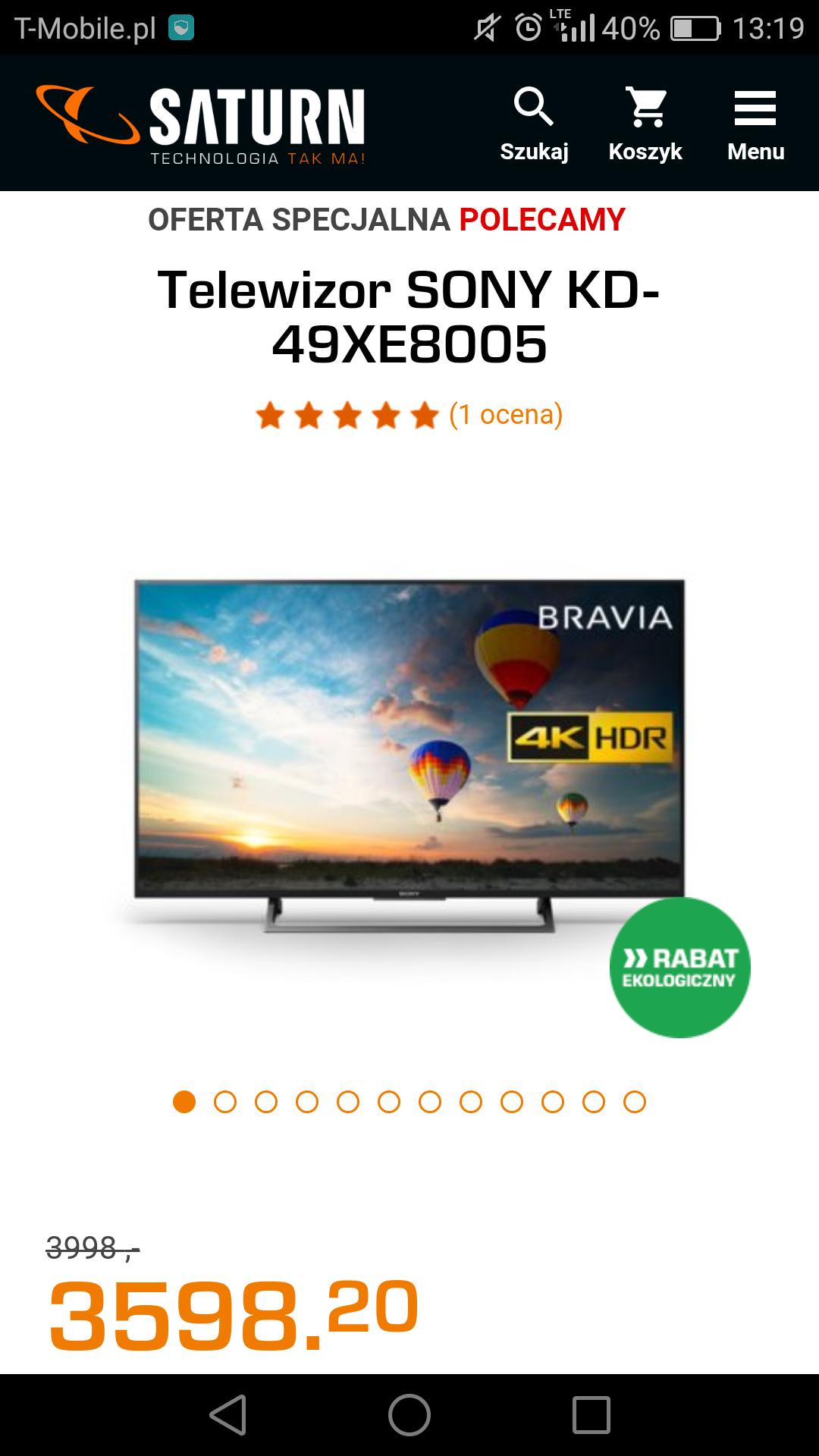 Telewizor Sony KD-49XE8005