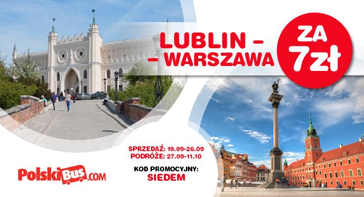 PolskiBus Warszawa-Lublin 7+1zł