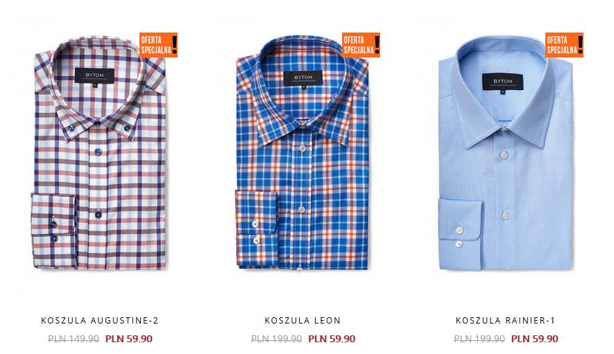 Koszule za 59,90zł (do 140zł taniej, 9 modeli) @ Bytom