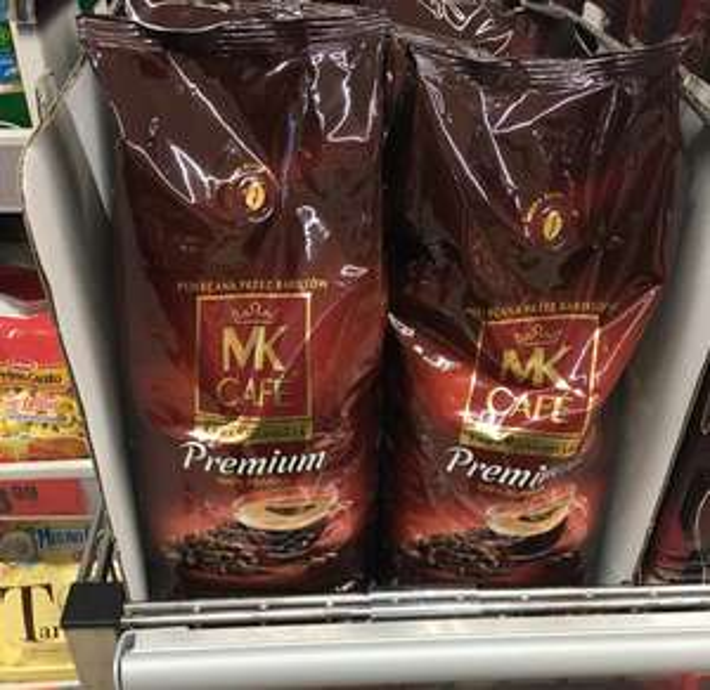 Kawa MK Cafe premium ziarnista biedronka
