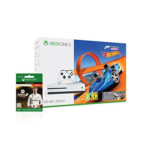 Xbox One S 500GB - Forza Horizon 3 Hot Wheels & FIFA 18 Ronaldo Edition